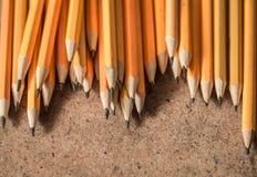 各种各样的石墨铅笔 免版税库存图片