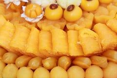 传统泰国甜点 免版税库存照片