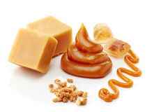 各种各样的种类焦糖 免版税库存图片