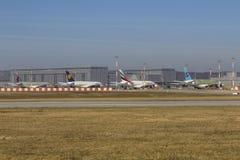 各种各样的空中客车A380 免版税库存图片