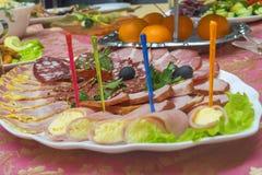 各种各样的肉纤巧 免版税库存照片