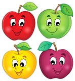 各种各样的苹果收藏3 库存图片