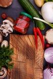 各种各样的菜和种子 库存图片