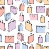 各种各样的购物袋的样式 免版税库存照片