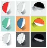 各种各样的选择的色的贴纸 免版税库存图片