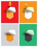 各种各样的选择的色的贴纸 免版税库存照片