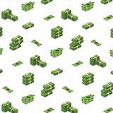 各种各样的金融法案美元现金纸钞票传染媒介集合 金钱现金堆 也corel凹道例证向量 库存例证