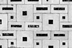 从各种各样的长方形块建立的砖墙表面 库存照片