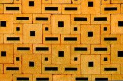 从各种各样的长方形块建立的砖墙表面 图库摄影