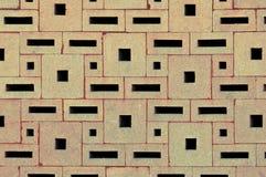 从各种各样的长方形块建立的砖墙表面 免版税库存图片
