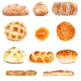 各种各样的面包类型 免版税库存图片