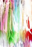 各种各样的颜色丝织物小条  免版税库存图片