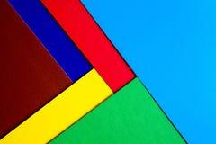各种各样的颜色纸板切片 免版税库存照片