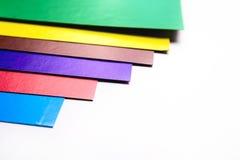 各种各样的颜色纸板切片 库存照片