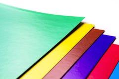 各种各样的颜色纸板切片 免版税图库摄影