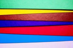 各种各样的颜色纸板切片 图库摄影
