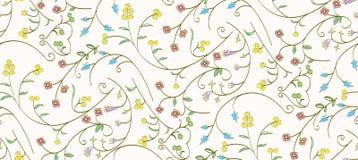 各种各样的颜色花卉样式 免版税库存照片