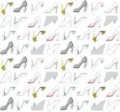 各种各样的颜色鞋子  免版税库存照片