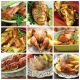 各种各样的鸡产品拼贴画  库存图片