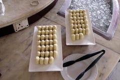 各种各样的宴会快餐为事件党做准备在豪华旅馆四点由希拉顿阿格拉 免版税图库摄影