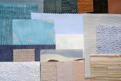 各种各样的织品样片 免版税库存图片