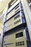 各种各样的仪器工作测量的空气质量 免版税库存照片