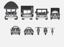 各种各样的类型车  免版税库存照片
