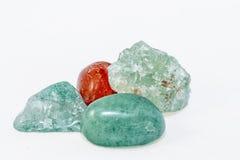 各种各样的水晶和矿物 免版税图库摄影