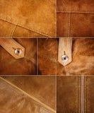 各种各样的绒面革纹理的汇集 库存图片