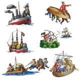 各种各样船,小船和更多 免版税图库摄影