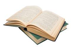 合上的书开张 免版税图库摄影