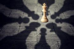 合作企业的队击败强有力的对手 免版税库存照片