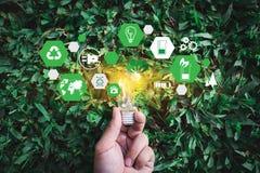 合作企业能量利用,持续力酸元素的能量 免版税图库摄影