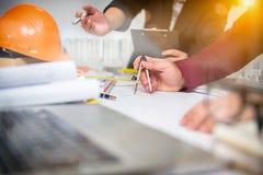 合作公司成就计划设计凹道配合 免版税库存图片