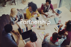 合作协议企业合作概念 免版税库存图片