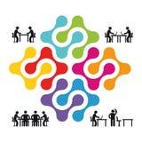 合作和合作例证 免版税库存照片