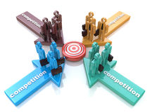 合作或竞争隐喻 图库摄影