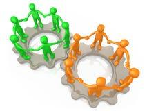 合作的小组 库存例证