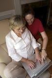 合作的膝上型计算机  免版税库存图片