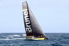 合作赛跑在富豪集团海洋种族的布鲁内尔在事假阿利坎特以后 免版税库存照片