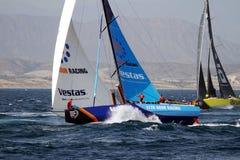 合作赛跑在富豪集团海洋种族的VESTAS在事假阿利坎特以后 库存图片