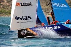 合作赛跑在富豪集团海洋种族的VESTAS在事假阿利坎特以后 图库摄影