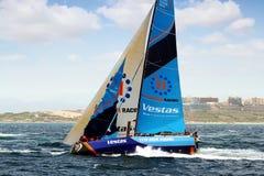 合作赛跑在富豪集团海洋种族的VESTAS在事假阿利坎特以后 库存照片