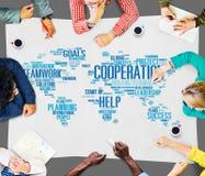 合作配合协助帮助支持概念 免版税库存图片