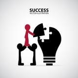 合作 企业概念例证 库存照片