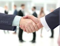 合作-握手商务伙伴的概念 库存照片