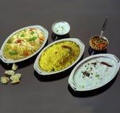 组合南印地安的米 免版税库存图片