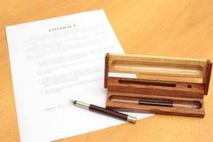 合同签名 免版税库存照片