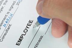 合同签字 免版税库存图片