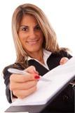 合同请签字 免版税库存图片